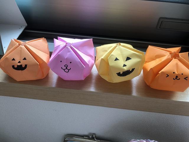 折り紙のジャックオーランタン