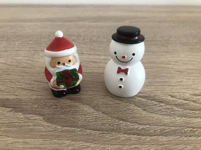 サンタ&雪だるま