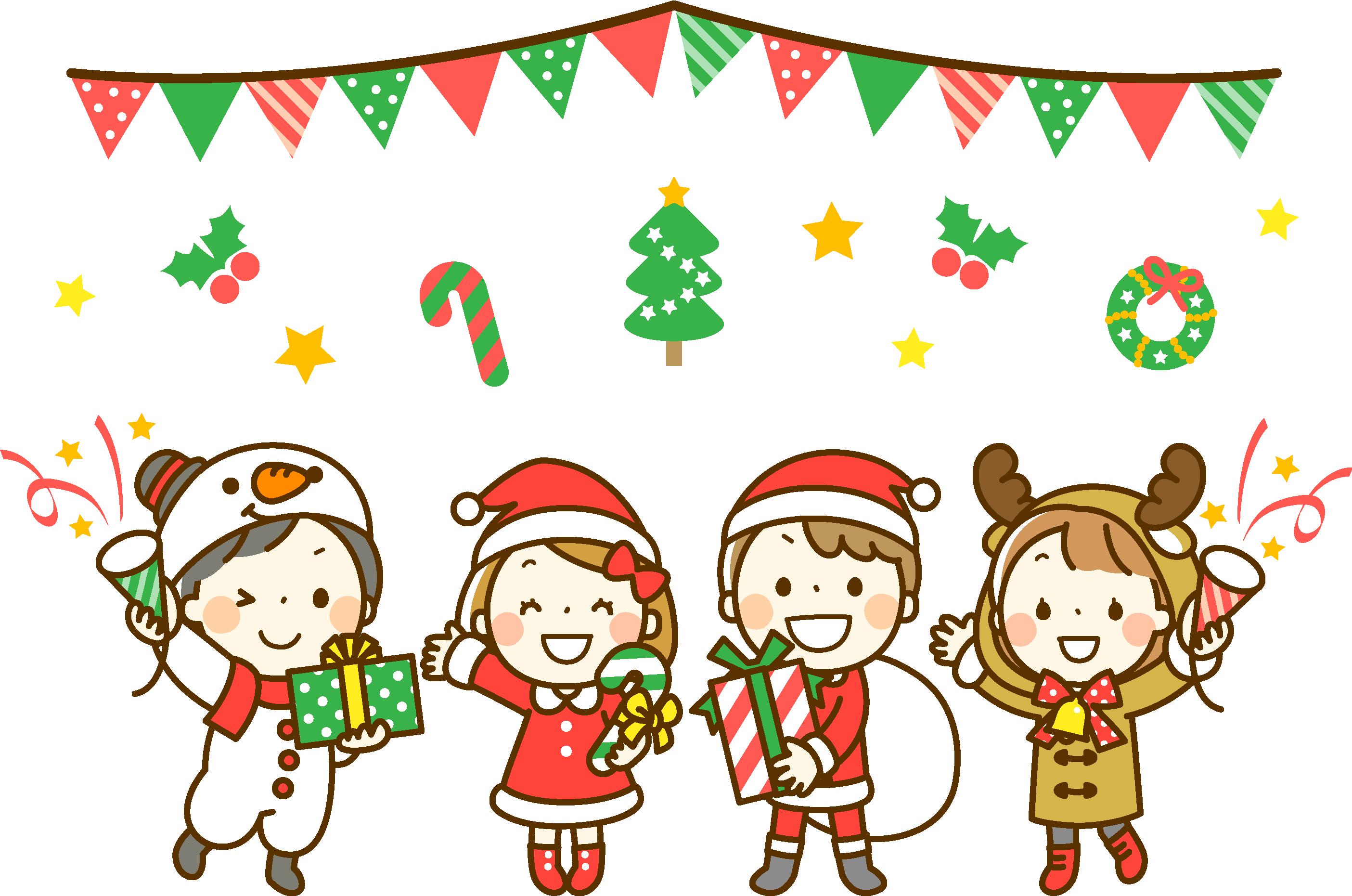 子供とクリスマスパーティー