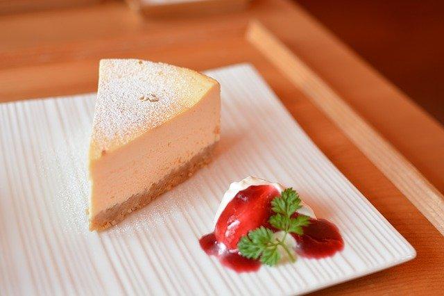 チーズケーキのプレート