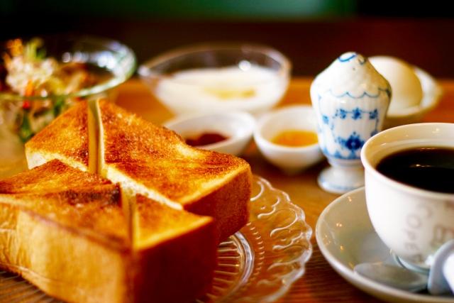 コーヒーと朝食